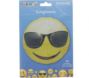 EMOJI SUNGLASSES FACE BALLOON
