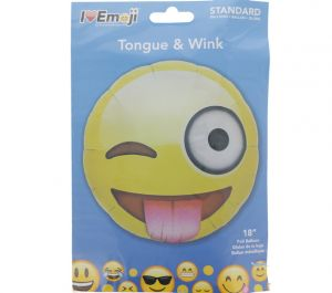 EMOJI TONGUE AND WINK FACE BALLOON