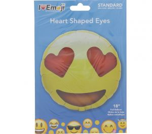 EMOJI HEART EYES FACE BALLOON