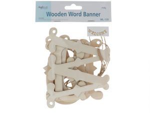 WELCOME LASER CUT WOOD BANNER