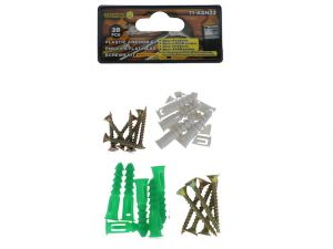 PLASTIC ANCHOR AND FLAT HEAD SCREW KIT