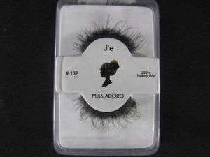 Miss Adoro J'e #102 100% Real Hair False Eyelashes, Natural Eyelashes, Lashes For Women