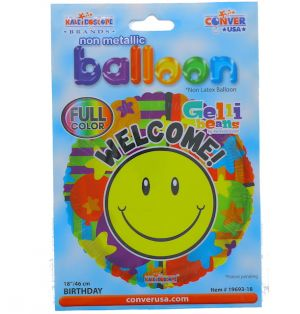 WELCOME NON LATEX BALLOON 18 INCH