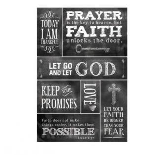 FAITH BASED STICKERS 7 PC