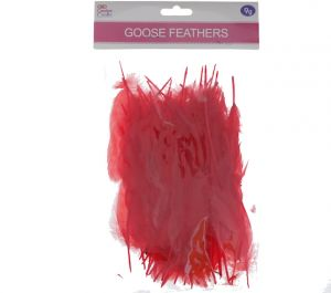 RED GOOSE FEATHERS 5-7IN