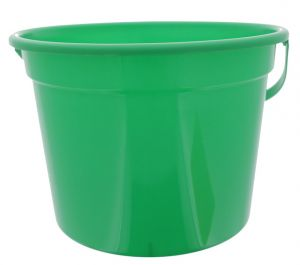 GREEN PLASTIC PAIL