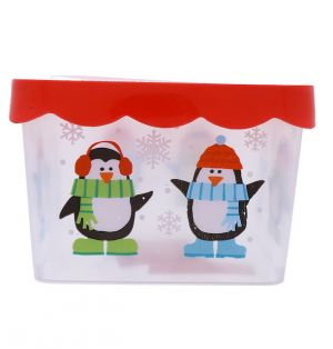 FOOD STORAGE CONTAINER CHRISTMAS SQUARE 7 INCH