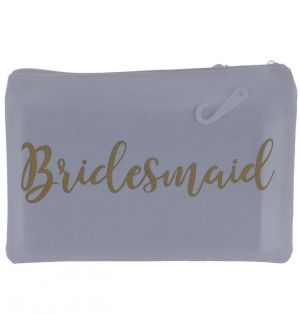POUCH ZIP BAG BRIDESMAID 6.5 INCH X 9 INCH