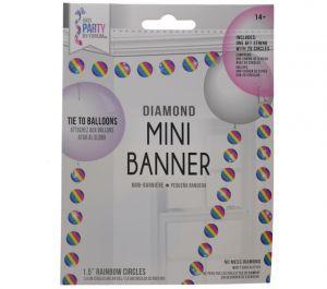 CIRCLE MINI RAINBOW BANNER
