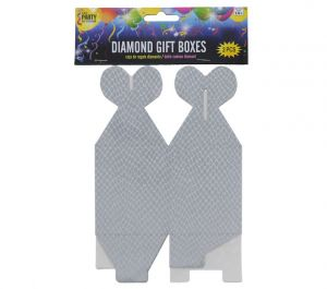 SILVER DIAMOND GIFT BOXES 2 COUNT
