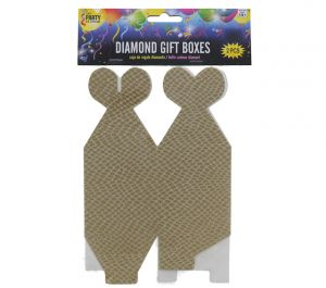 GOLD DIAMOND GIFT BOXES 2 COUNT