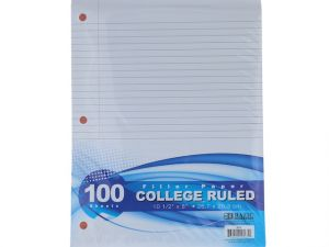 BAZIC College Ruled 100 Ct. Filler Paper, 1-Pack