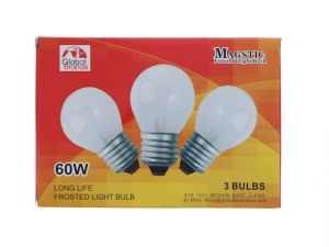 LIGHT BULB 60W FROSTED 3PK