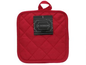 SOLID QUILTED POTHOLDER 2 PACK