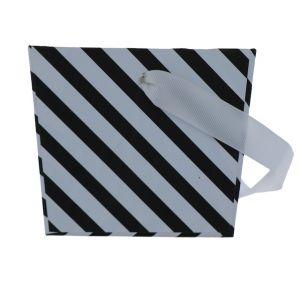 BLACK AND WHITE STRIPE TREAT BOX