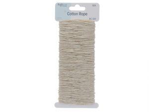 Color Hemp Cord 15M Light Bone Cotton